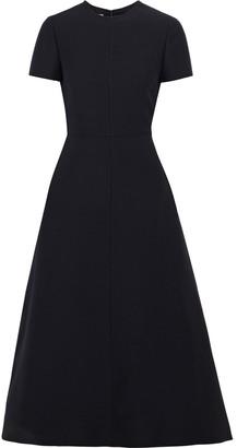 Valentino Wool And Silk-blend Crepe Midi Dress
