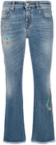 Roberto Cavalli beads embroidery cropped jeans
