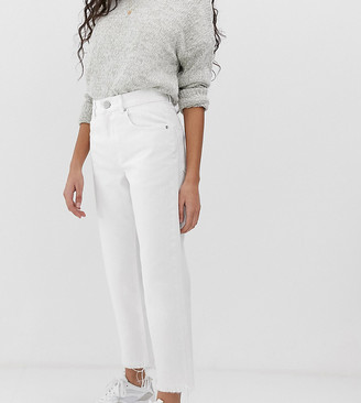 ASOS DESIGN Petite Florence authentic straight leg jeans in chalky white