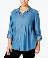 Style&Co. Style & Co Plus Size Dot-Print Top, Only at Macy's