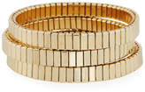 Neiman Marcus Watch Out Stretch Bracelet, Golden