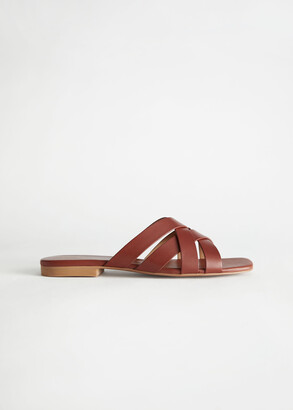 And other stories Leather Criss Cross Mule Sandals