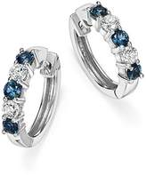 Bloomingdale's Sapphire and Diamond Hoop Earrings in 14K White Gold - 100% Exclusive