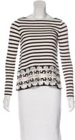 Thakoon Striped Embroidered Top