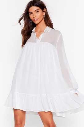 Nasty Gal Womens Sheer and Now Chiffon Mini Dress - White