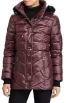 Lauren Ralph Lauren Faux Fur-Trimmed Puffer Coat