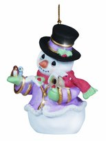 """Precious Moments Precious Moments, Christmas Gifts, """"Snow Place Like Home"""", Bisque Porcelain Ornament, 4th in Annual Snowman Series"""