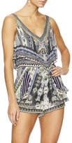 Camilla Tie The Knot Playsuit W/ Tiered Overlay