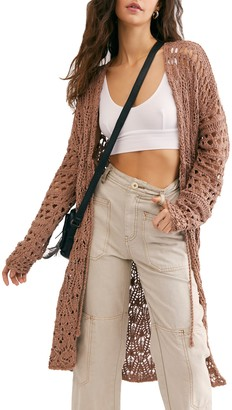 Free People Sweet Talker Crochet Cardi