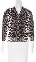 Marc Jacobs Leopard Print V-Neck Cardigan