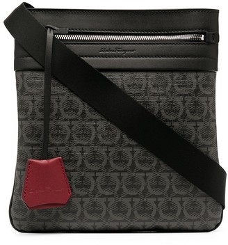 Salvatore Ferragamo Gancini pattern messenger bag