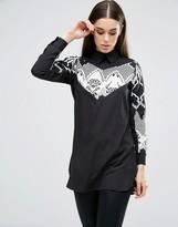 AX Paris Printed Monochrome Insert Shirt