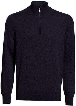 Brunello Cucinelli Quarter-Zip Cashmere Sweater