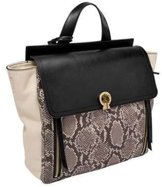 Fossil Amelia Backpack Handbags Taupe Snake/Black