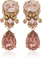 Dolce & Gabbana Brass And Glass Drop Earrings