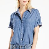 Levi's Women's Short Sleeve Button-Down Top
