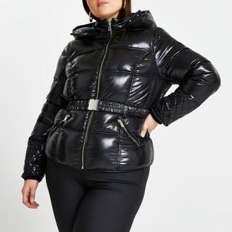 River Island Womens Plus Black padded jacket