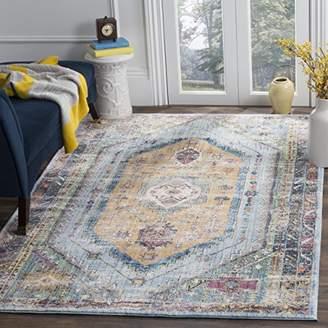 Safavieh BTL346C Marlie Woven Area Rug, Polyester, Blue/Camel, 154 x 228 x 0.25 cm