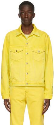 Helmut Lang Yellow Denim Masc Trucker Jacket