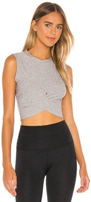 Beyond Yoga Under Over Cropped Muscle Tank