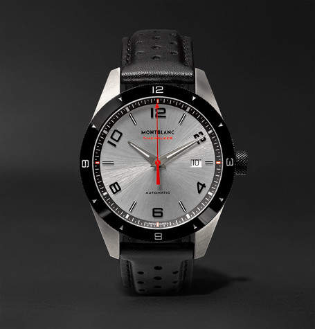 Montblanc Timewalker Date Automatic 41mm Stainless Steel, Ceramic And Leather Watch