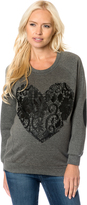 A Pea in the Pod Lace Maternity Sweatshirt