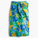 J.Crew Tall tie-waist skirt in puckered morning floral
