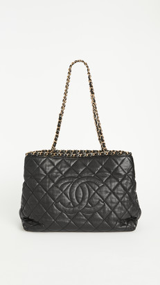 What Goes Around Comes Around Chanel Black Lambskin Chain Tote