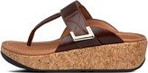 FitFlop Remi Adjustable Leather Toe-Post Sandals