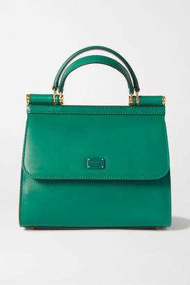 Dolce & Gabbana Sicily 58 Small Leather Tote - Green