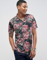 LDN DNM Printed Revere Short Sleeve Shirt