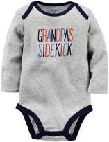 Carter's Baby Boys Grandpa's Sidekick Bodysuit Gray