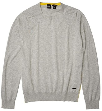 HUGO BOSS Kabiro Soft Sweater (Silver) Men's Clothing