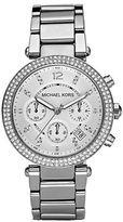 Michael Kors Parker Pavé Stainless Steel Chronograph Bracelet Watch