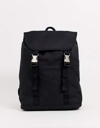 Asos Design DESIGN backpack in black with double straps