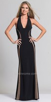 Dave and Johnny Open Back Side Illusion Prom Dress