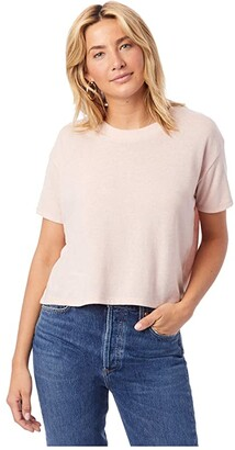 Alternative Headliner Cropped Tee (Vintage Faded Pink) Women's T Shirt