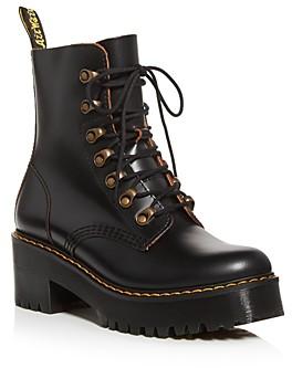 Dr. Martens Women's Leona Platform Combat Boots