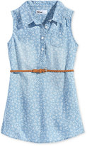 Epic Threads Floral-Print Denim Dress, Toddler and Little Girls (2T-6X), Created for Macy's