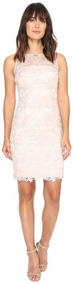 Adrianna Papell Women's Sleevless Sequin Guipure Lace Sheath Cocktail Dress