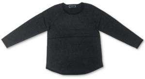 Karen Scott Contrast Curved-Hem Sweater, Created for Macy's