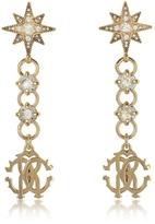 Roberto Cavalli Icon Golden Star Earrings w/Crystals