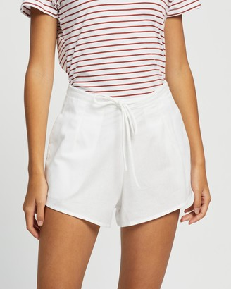 Cotton On Women's White High-Waisted - Becki Shorts - Size 8 at The Iconic