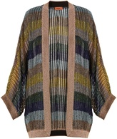 Missoni Oversized striped metallic-knit cardigan
