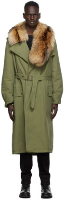Mr & Mrs Italy Khaki Nick Wooster Edition Trench Coat