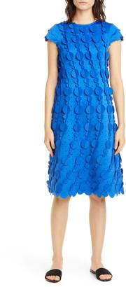 PASKAL clothes Laser Cut Circle Scalloped A-Line Dress