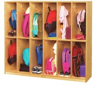Child Craft Childcraft 12 Section Preschool Cubby Locker Childcraft