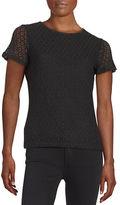 Calvin Klein Textured Short-Sleeved Blouse