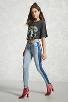 Forever 21 Colorblock Skinny Jeans