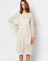 Sister Jane Lace Dress With Flared Sleeves